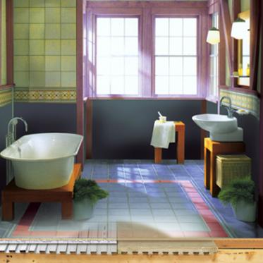 sol de salle de bain