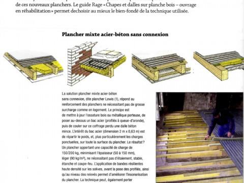 Plancher collaborant - plancher acier béton - plancher LEWIS